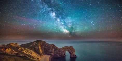 Durdle Door Under Milky Way